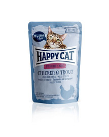 HAPPY CAT All Meat Sterilised Adult Chicken & Trout (Huhn & Forelle) 85 g