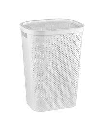CURVER Wäschebox Infinity mit Punktmuster 59l in weiß