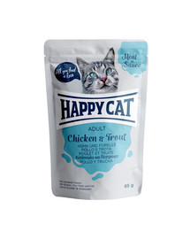 HAPPY CAT Meat in sauce Adult Chicken & Trout (Huhn & Forelle) 85 g