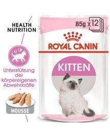 ROYAL CANIN KITTEN Nassfutter in Mousse für Kätzchen 12x85g