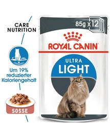 ROYAL CANIN Ultra Light Nassfutter in Soße für übergewichtige Katzen 12x85g