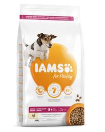 IAMS for Vitality Senior für ältere Hunde kleiner und mittelgroßer Rassen mit frischem Huhn 3 kg