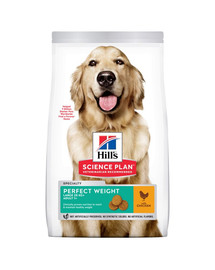 HILL'S Science Plan Hund Adult Perfect Weight Large Breed Huhn 12 kg