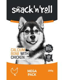 SNACK & ROLL Calcium Bone with Chicken Kalziumwürfel mit Huhn 200 g