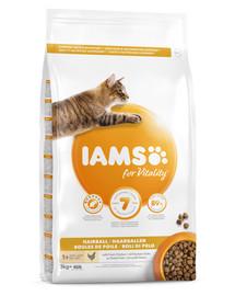 IAMS For Vitality Cat Adult Haarballen Huhn 3 kg