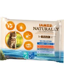 IAMS Naturally für ausgewachsene Katzen 4 x 85 g