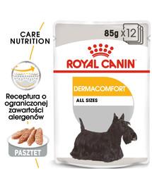 ROYAL CANIN DERMACOMFORT Nassfutter für Hunde mit empfindlicher Haut Mousse 12 x 85 g