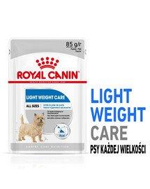 ROYAL CANIN LIGHT WEIGHT CARE Nassfutter für Hunde mit Neigung zu Übergewicht 12 x 85 g