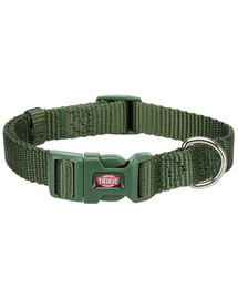 TRIXIE  Premium Halsband S: 25–40 cm/15 mm waldgrün