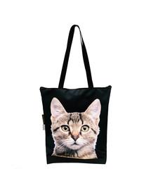 FERA Klassische Einkaufstasche mit graue Katze