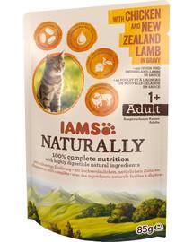IAMS Naturally mit Huhn und Neuseeland-Lamm in Sauce 85 g