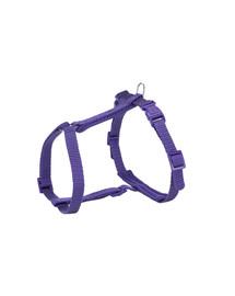 TRIXIE Premium H-Geschirr mit Leine  25–45 cm/10 mm, 1.20 m violet