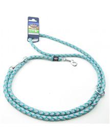 TRIXIE Cavo Reflect Verstellbare Hundeleine Marine Blau S-M: 2.00 m/o 12 mm