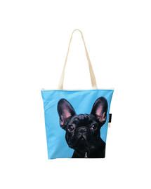 FERA Klassische Einkaufstasche mit dem französischen Bulldogge
