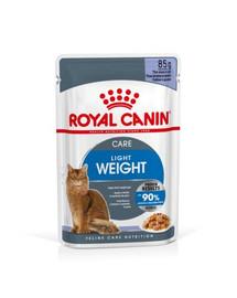 ROYAL CANIN ULTRA LIGHT in Gelee Nassfutter für zu Übergewicht neigenden Katzen 12 x 85g