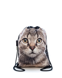 FERA  Sportbeutel mit dem Bildaufdruck Graue Katze