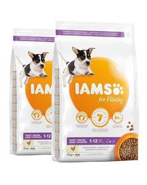 AMS for Vitality für Welpen kleiner und mittelgroßer Rassen mit frischem Huhn 24 kg (2 x 12 kg)
