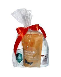 OVER ZOO Geschenkset Shampoo + Spülung + Leckerlis für hellhaarige Hunde