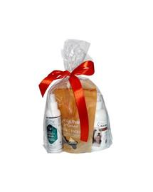 OVER ZOO Geschenkset Shampoo + Conditioner + Leckerlis für langhaarige Hunde