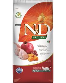 FARMINA N&D Pumpkin Wachtel, Kürbis & Granatapfel für kastrierte Katzen Adult 5 kg