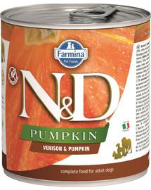 FARMINA N&D Pumpkin Hirsch & Kürbis Adult Nassfutter Mini 285 g
