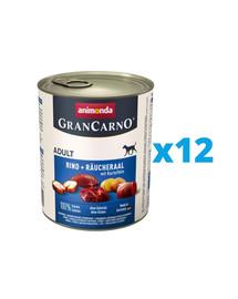 ANIMONDA GranCarno Adult RIND + RÄUCHERAAL MIT KARTOFFELN 12 x 400 g