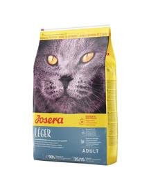 JOSERA Cat Leger für kastrierte, wenig aktive oder zu Übergewicht neigenden Katzen 10 kg + 2 Frischebeutel GRATIS