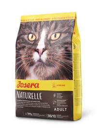 JOSERA Naturelle für Indoor- und sterilisierte Katzen 10 kg + 2 Frischebeutel GRATIS
