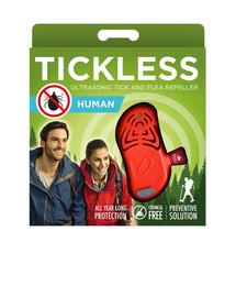 TICKLESS Human – Orange Ultraschallgerät gegen Zecken für Erwachsene