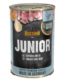 BELCANDO Junior Geflügel mit Ei 400 g