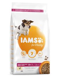 IAMS for Vitality Senior für ältere Hunde kleiner und mittelgroßer Rassen mit frischem Huhn 5 kg